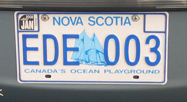 Canadian Province License Plate Nova Scotia